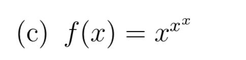 (c) f(x) = x