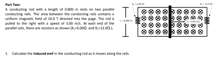 Answered: Part Two: R-6.000 R 1200 A conducting… | bartleby
