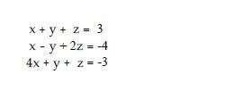 x+y z 3 x-y 2z 4 4x y z-3