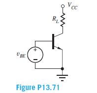 Vcc BE Figure P13.71