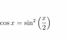 cos x = sin? .2. COs x