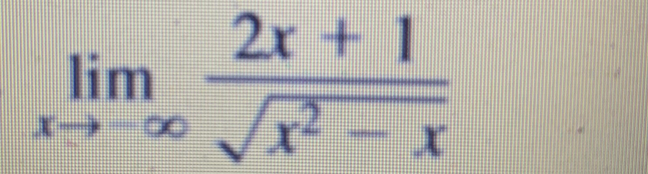 2x + 1 lim