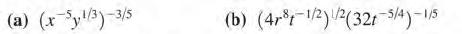 (a) (xyl3)-3/5 (b) (4r-1/2)2(321 s/4)-15