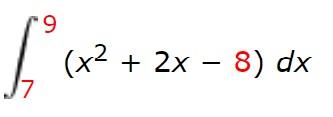 6. (x2 + 2x – 8) dx J7