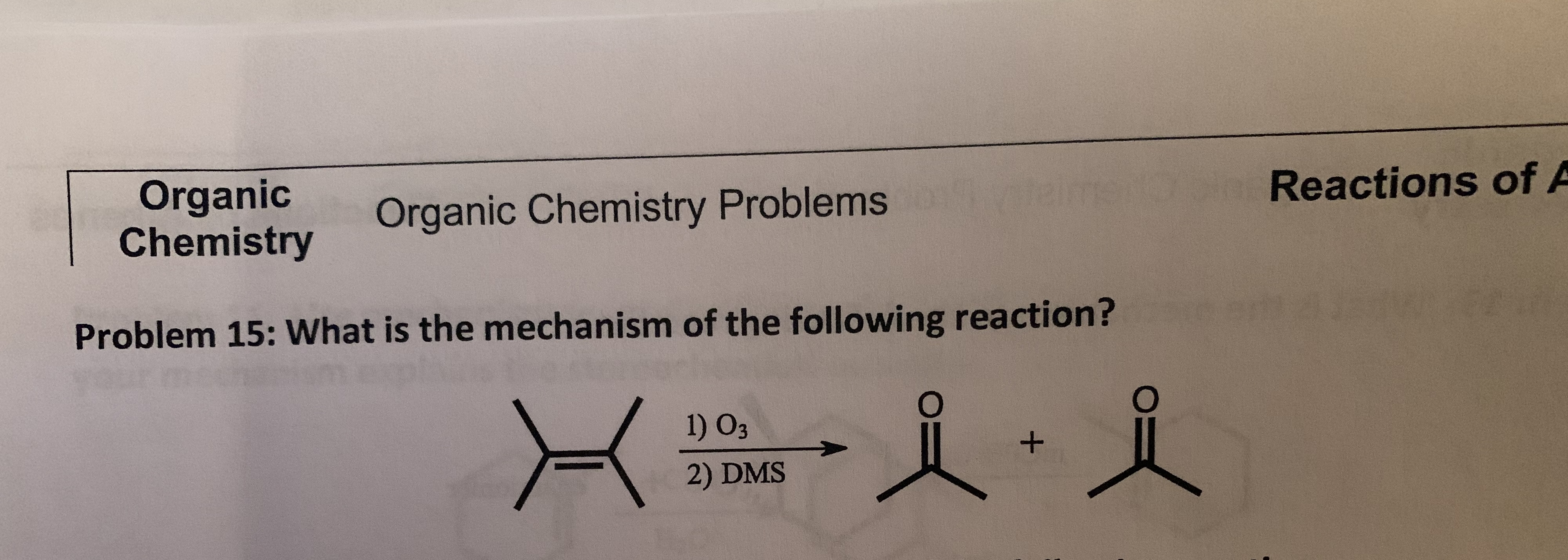 Answered Organic Chemistry Reactions Of A Bartleby