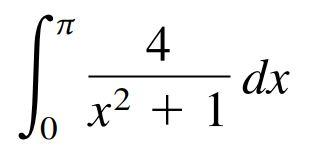 4 dx + 1 x²