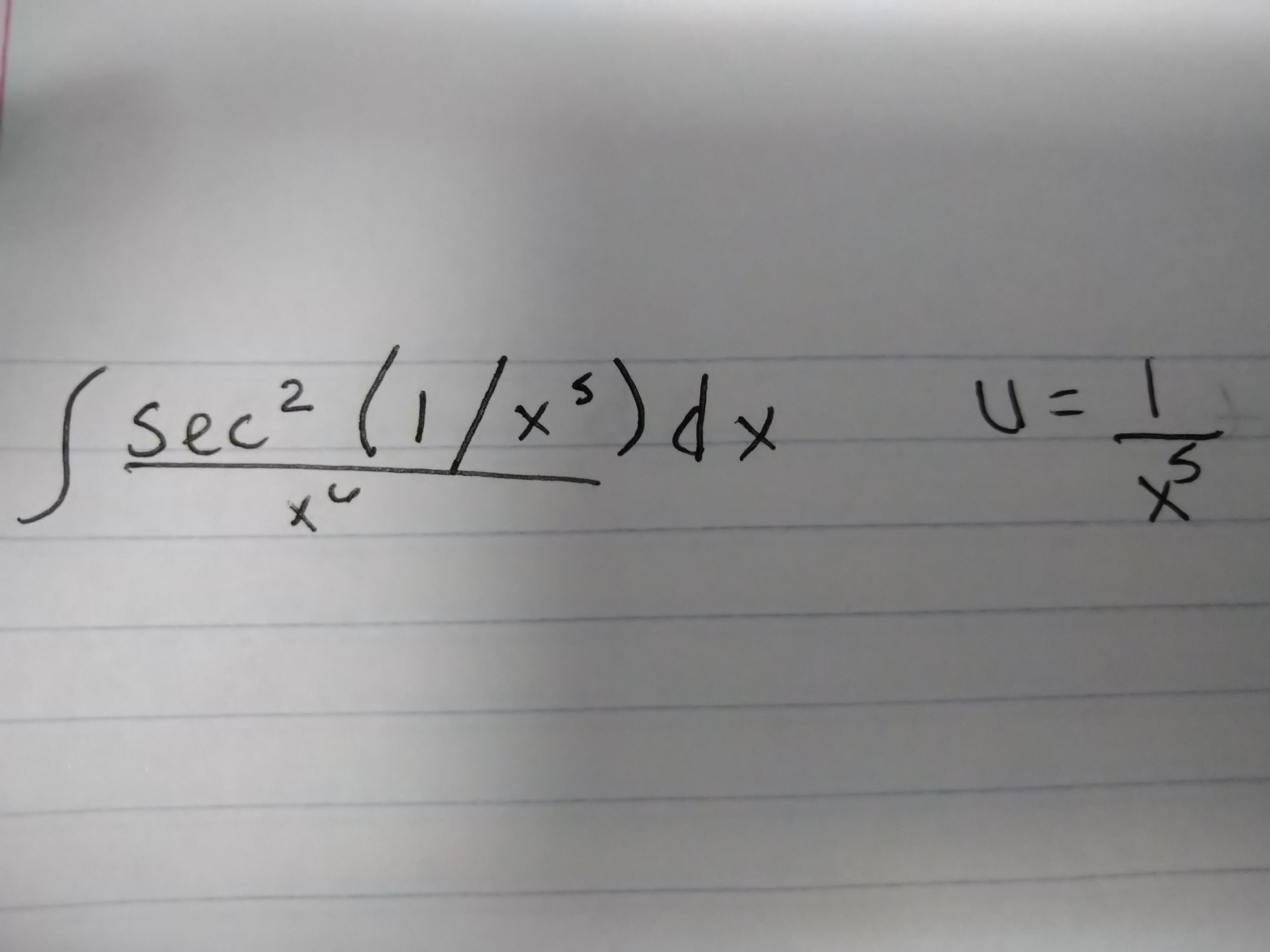 sec (1/x)d 2 S X X