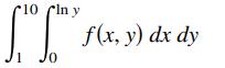 ri0 cln y f(x, у) dx dy 1