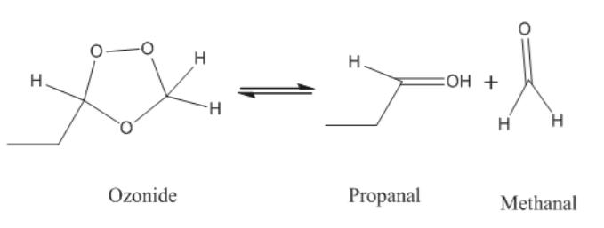 н н. ОН + Н. H н н Ozonide Propanal Methanal