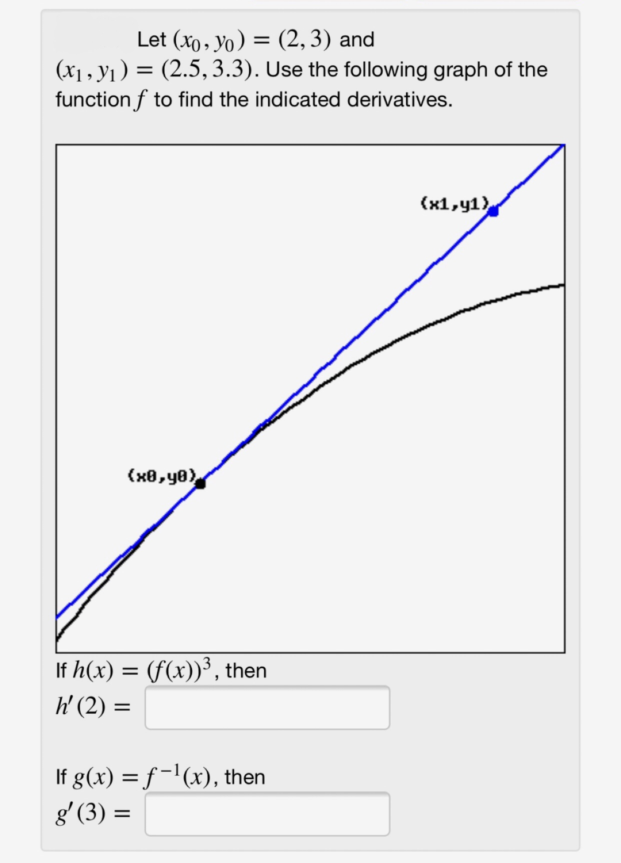 Answered Let Xo Yo 2 3 And X1 Y1 Bartleby Firstly, find the value of the function at the given point: answered let xo yo 2 3 and x1