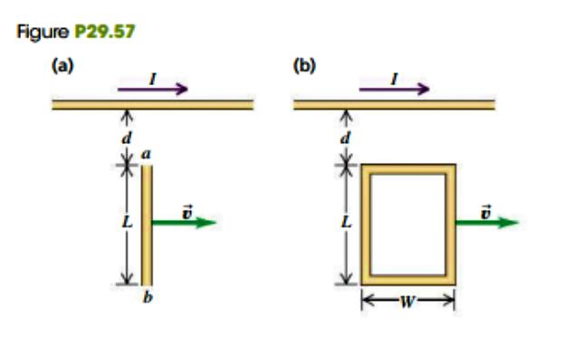 Figure P29.57 (a) (b) L