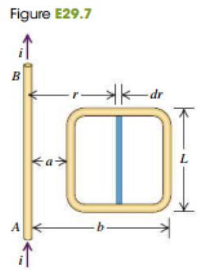 Figure E29.7 В - dr a A