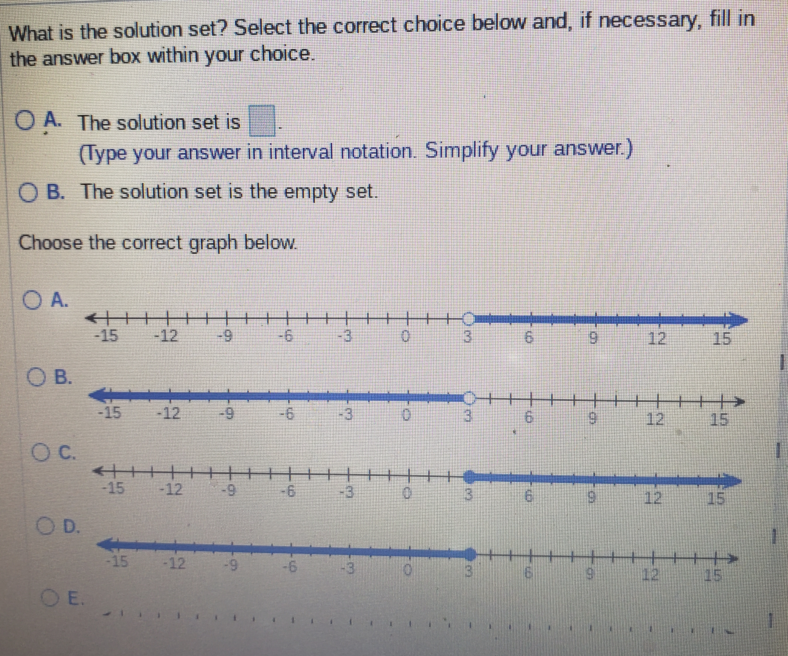 Answered: Solve the inequality. Give the solution… | bartleby
