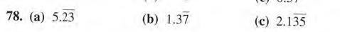 78. (а) 5.23 (b) 1.37 (с) 2.135