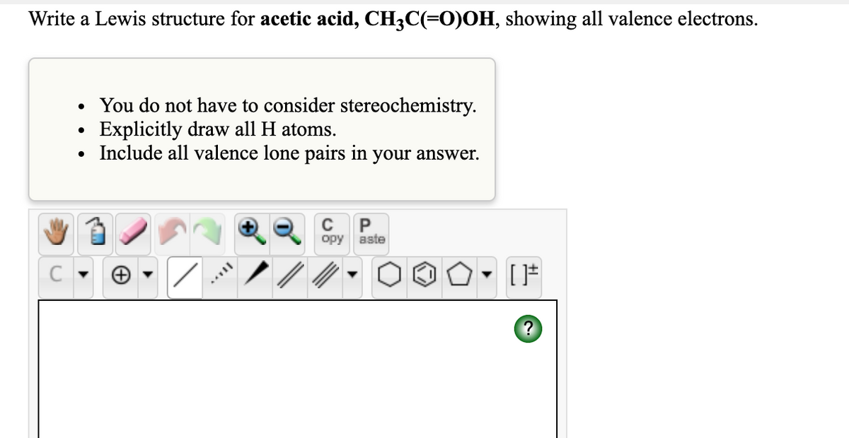 Answered Write A Lewis Structure For Acetic Bartleby