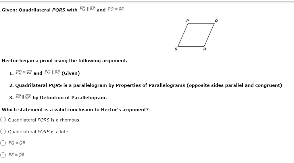 if pqrs is a quadrilateral then show that pq qr rs ps pr