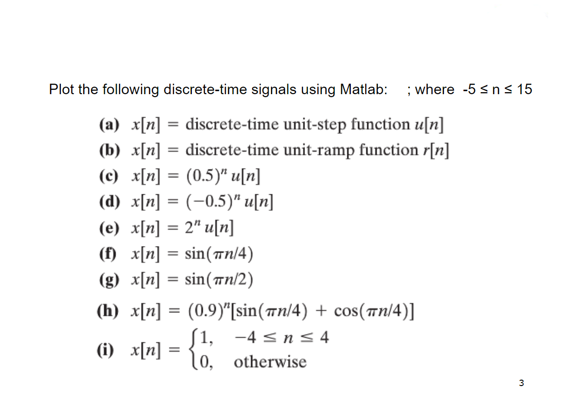 Answered Plot The Following Discrete Time Bartleby