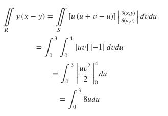 y (x- y)lu (u + v- u)] |; S(x.y) S(u.v) dvdu R ue]- dedu 0 0 3 du 2. =8udu