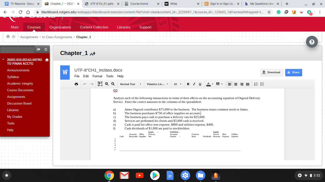 """O UTF-8""""Ch_01.pptx x A TV Resume - Googl C Sign In or Sign Up b My Questions 