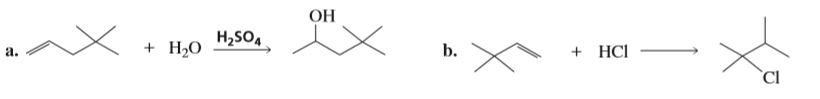 ОН H,SO, Н,о b. + HCI a.