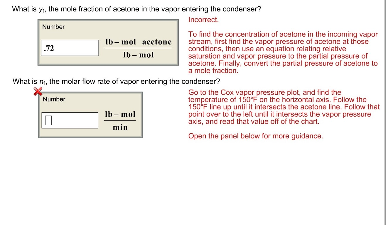 Answered: Map A vapor stream of acetone and dry…   bartleby