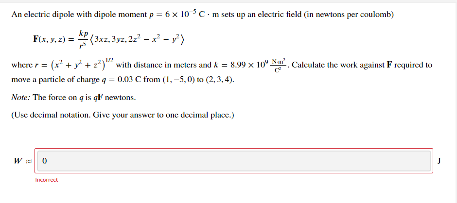 Answered: An electric dipole with dipole moment p… | bartleby