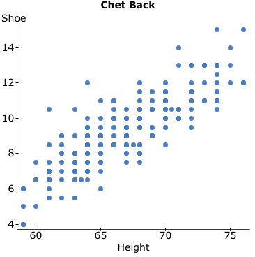 Chet Back Shoe 14t 12 10 8 6 60 65 70 75 Height