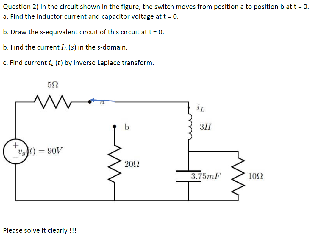 Answered: Question 2) In the circuit shown in the… | bartleby