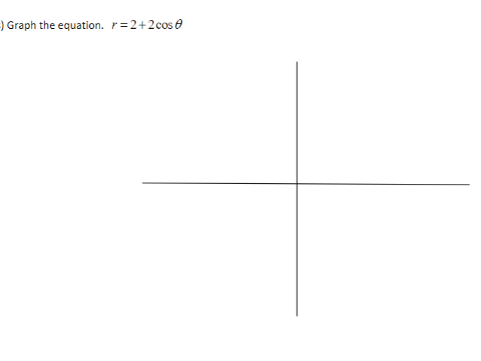 -) Graph the equation. r=2+2cos