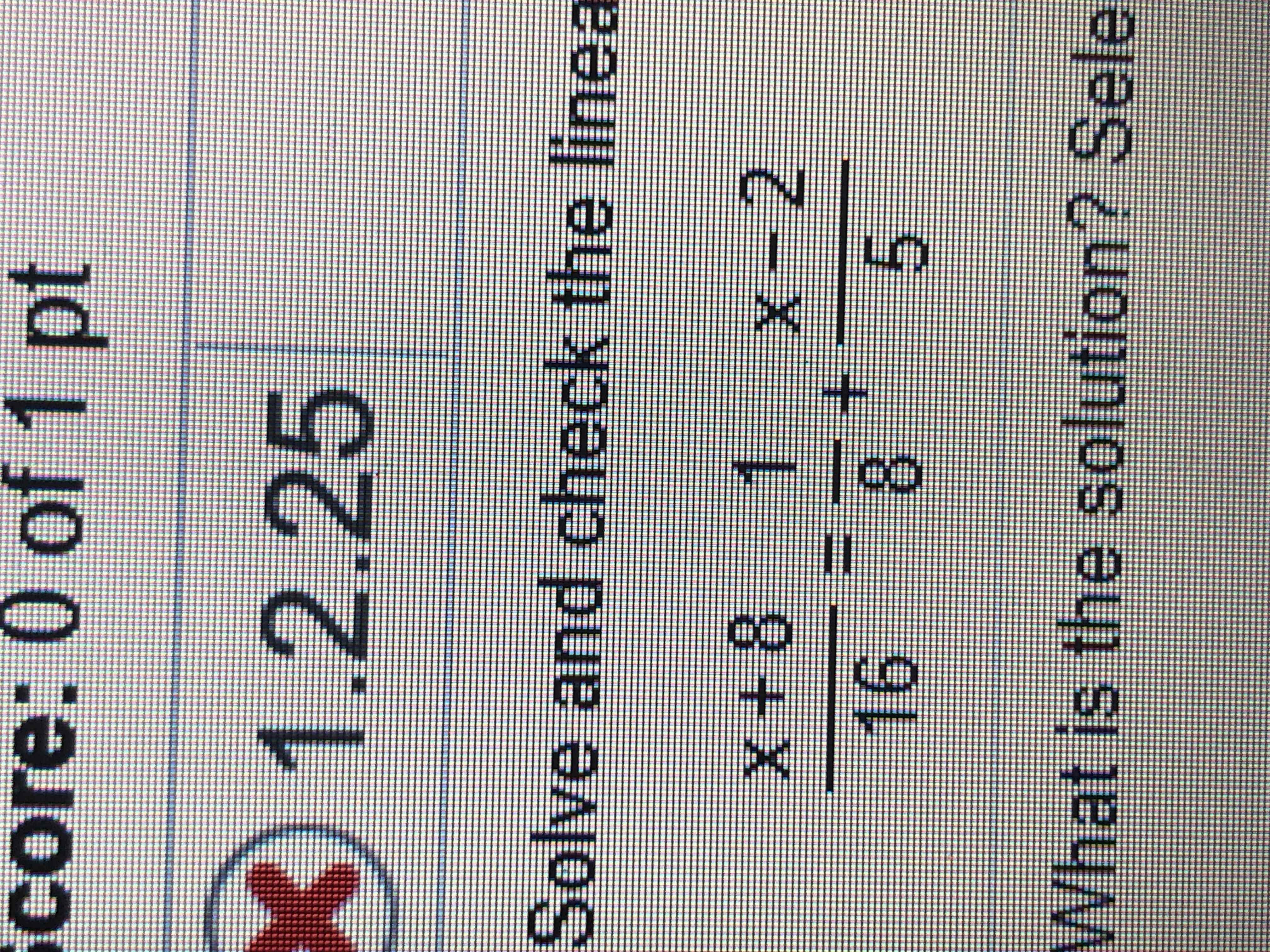 core: 0 of 1 pt 1.2.25 Solve and check the linea X+8 X-2 16 5 8 What is the solution? Sele