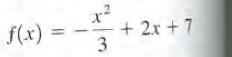 f(x) -+ 2x + 7 3