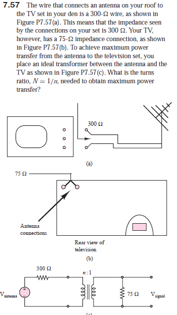 Answered: 7.57 The wire that connects an antenna… | bartlebyBartleby.com