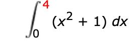 4 (x2 1) dx