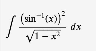 (sin (x))2 dx V1-x2