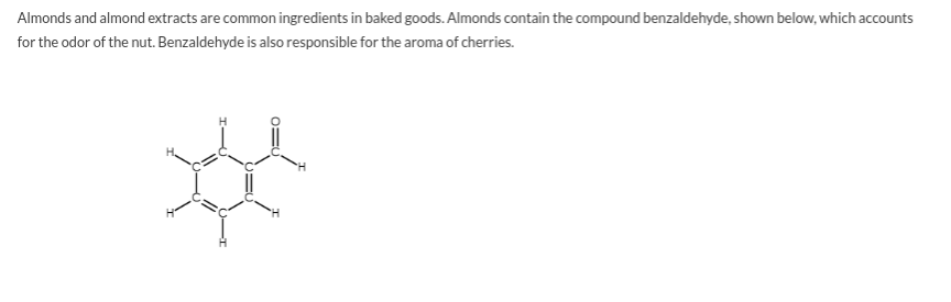 Answered: Almonds and almond extracts are common… | bartleby