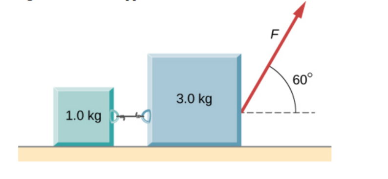 F 60° 3.0 kg 1.0 kg
