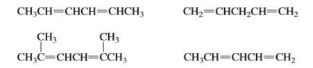 CH-CH—CHCH-—СНCH; CH2=CHCH,CH=CH2 CH3 Г. CH;C=CHCH=CCH3 CH3 CH;CH=CHCH=CH2