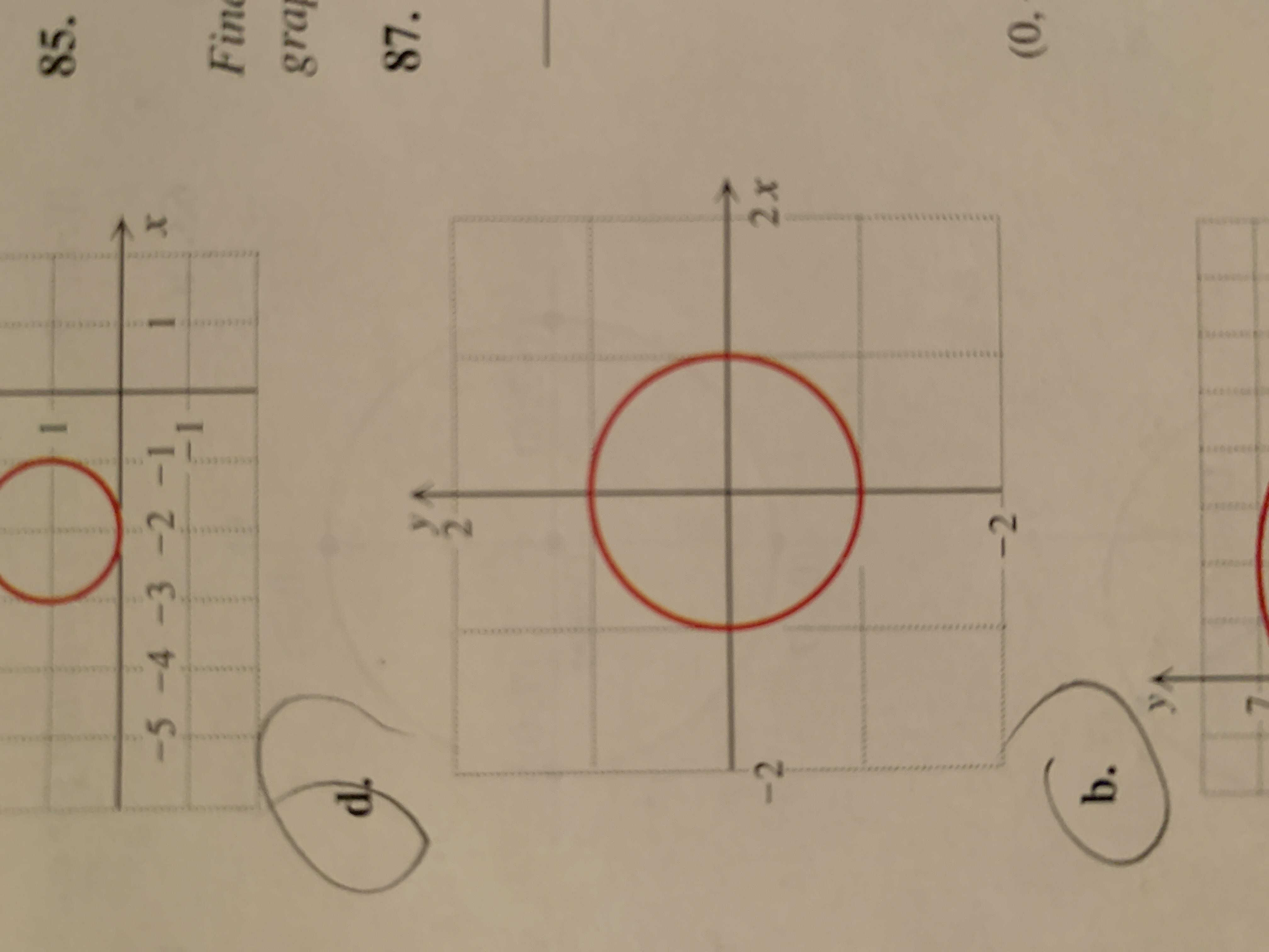 85. -5-4 -3 -2 -1 Fine grap 87. 2x -2 (0, b. 2.