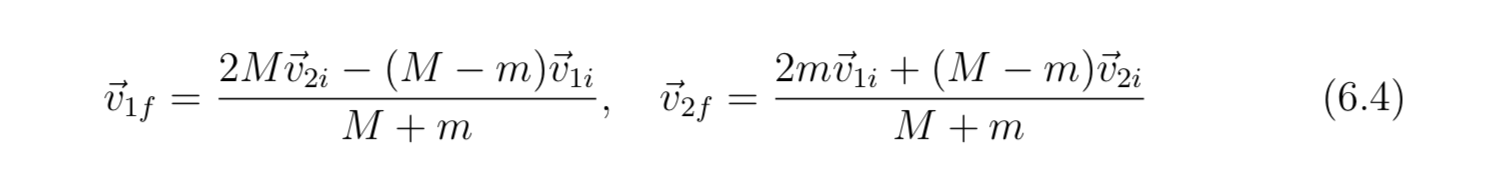 2mii + (M — т)izi й2 (М — т)бiа 2М ён бiу (6.4) М +m М +m