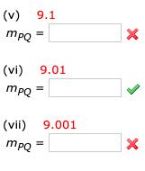 (v) 9.1 х Тро (vi) 9.01 mро (vii) 9.001 х Тро -