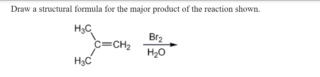 Answered: Draw a structural formula for the major… | bartleby