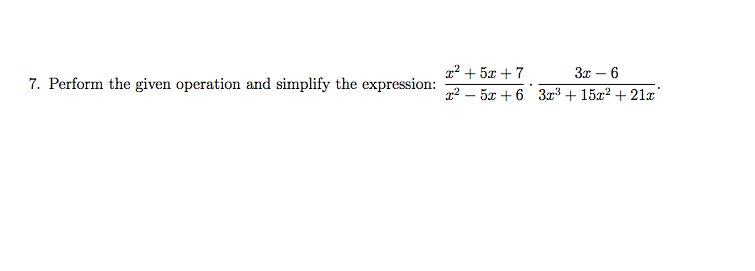 2+57 3 6 7. Perform the given operation and simplify the expression: 63r +15 +21z