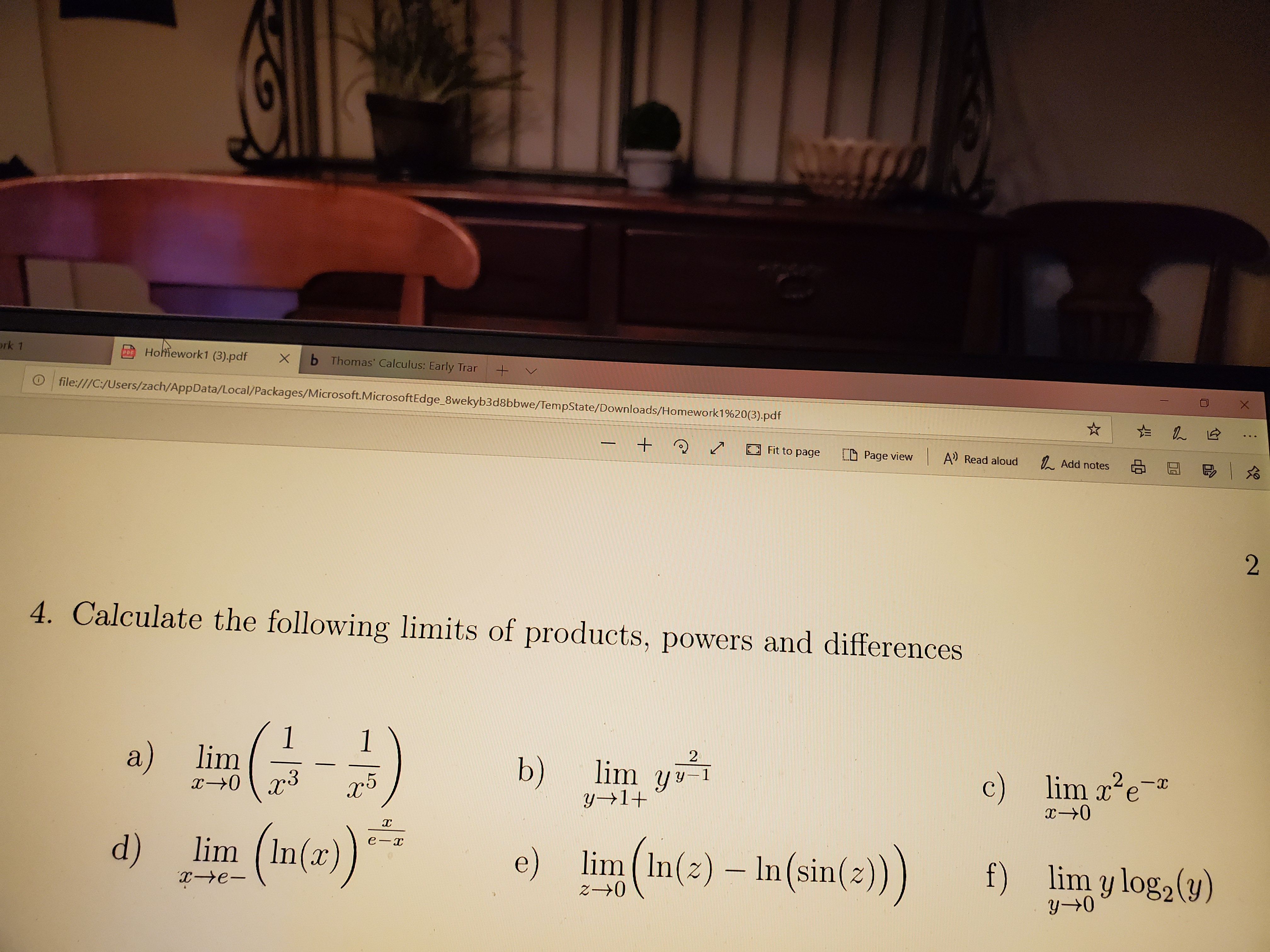Answered: Homework1 (3),pdf b Thomas' Calculus:… | bartleby