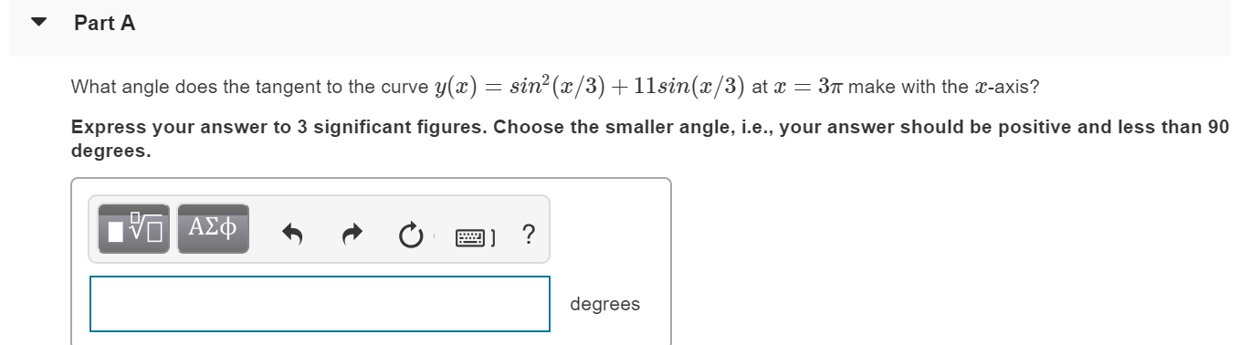 Answered: Part A What Angle Does The Tangent To… | Bartleby