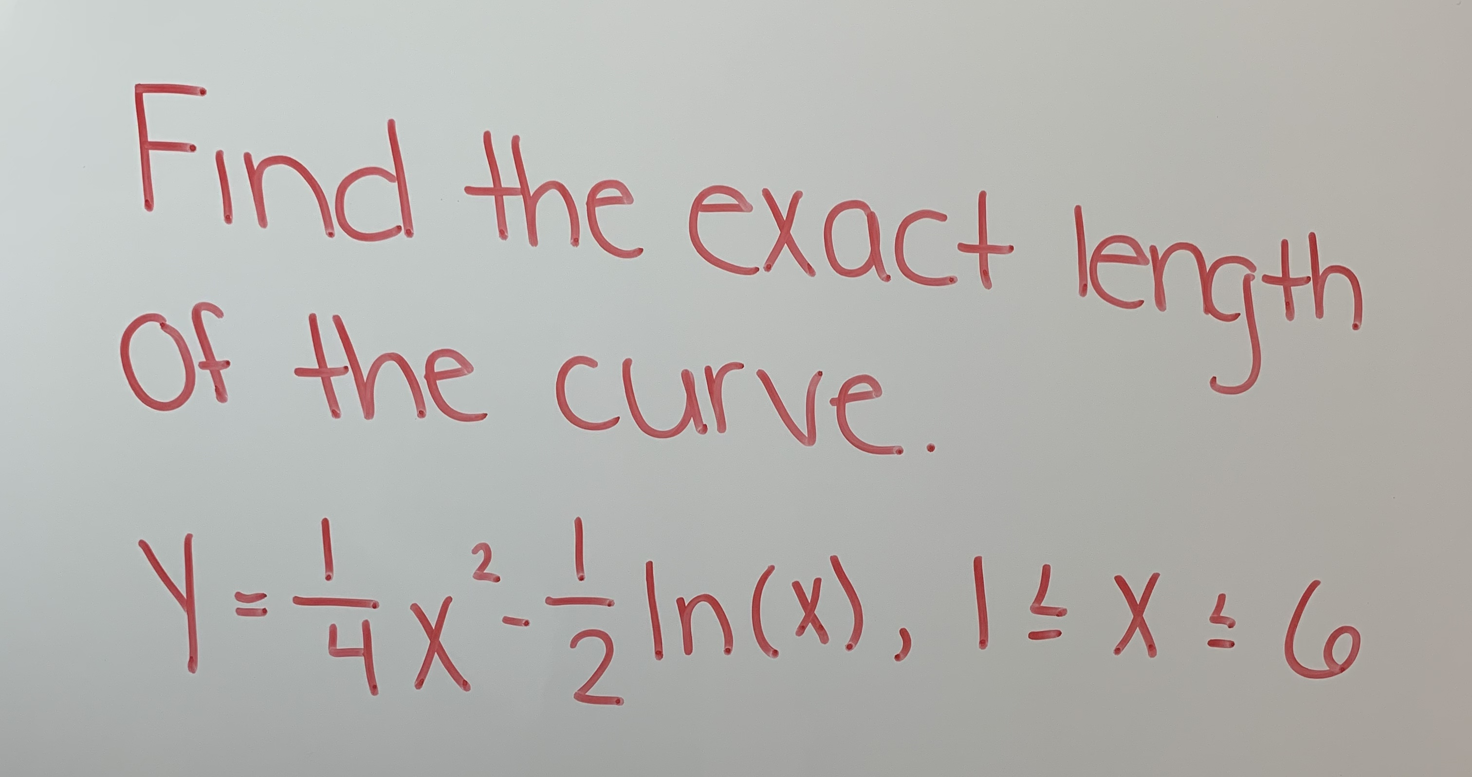 Find the exact length Ot the curve
