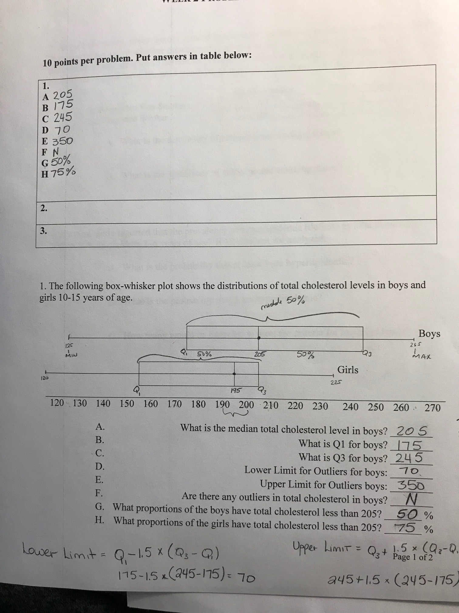 Answered 10 Points Per Problem Put Answers In Bartleby