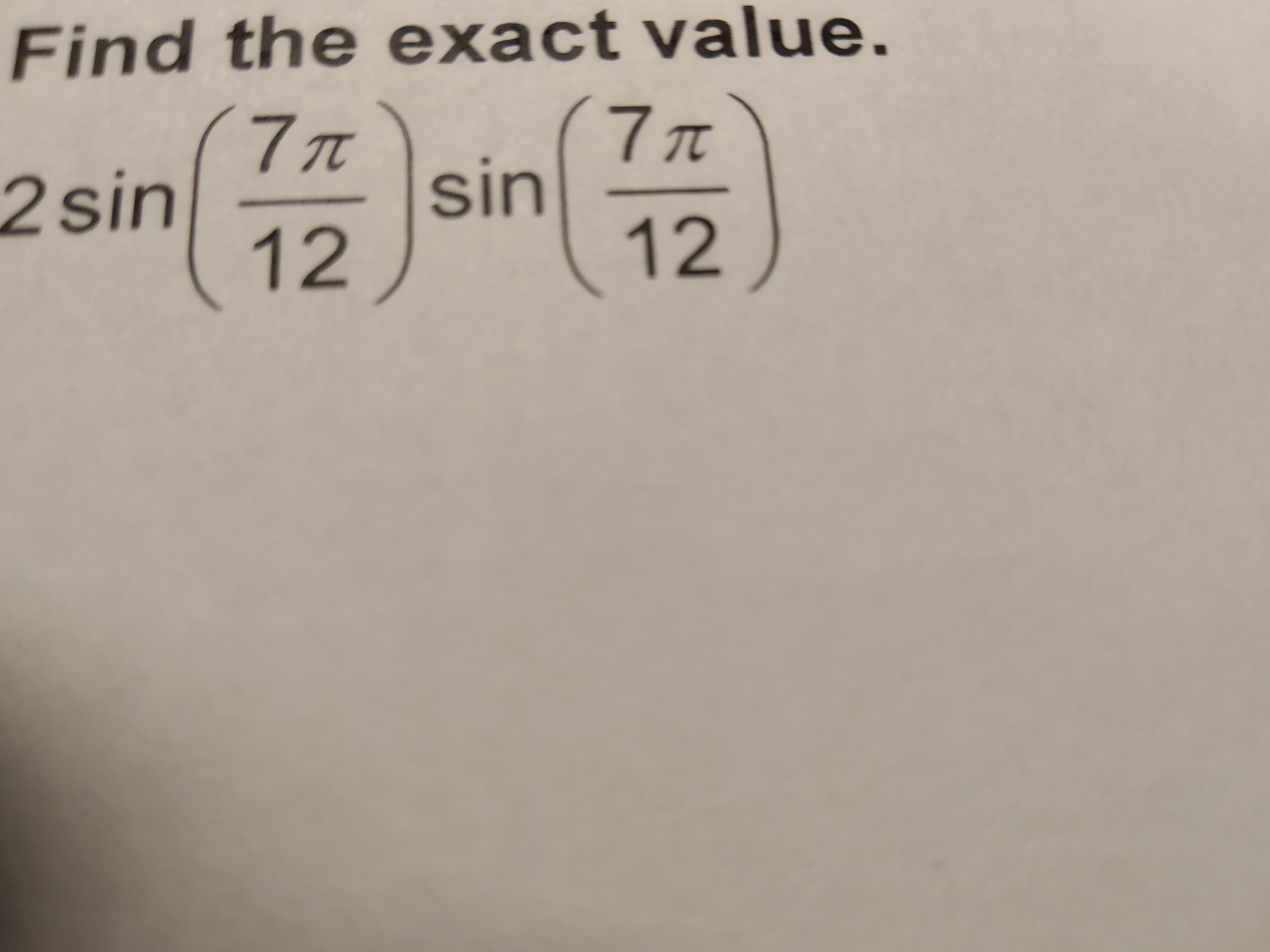Find the exact value.
