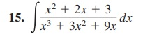 r2 2x 13x+9x 15.fr, +3r' + 3x dr 2