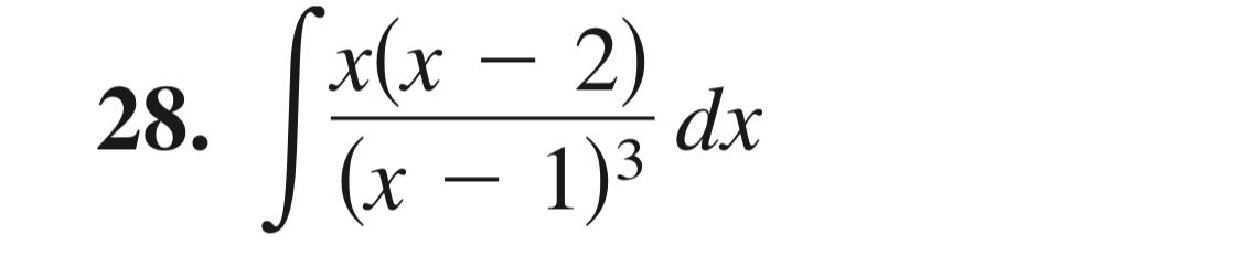 x(x - 2) 28. dx