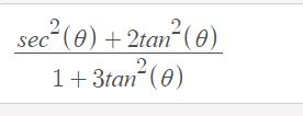 sec (e)2tan(e) 1+3tan (e)